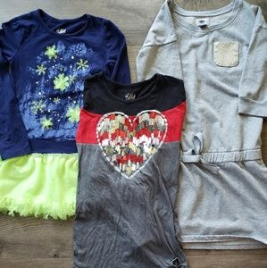 Girls Size 7/8 LS tunic shirts justice/oldnavy